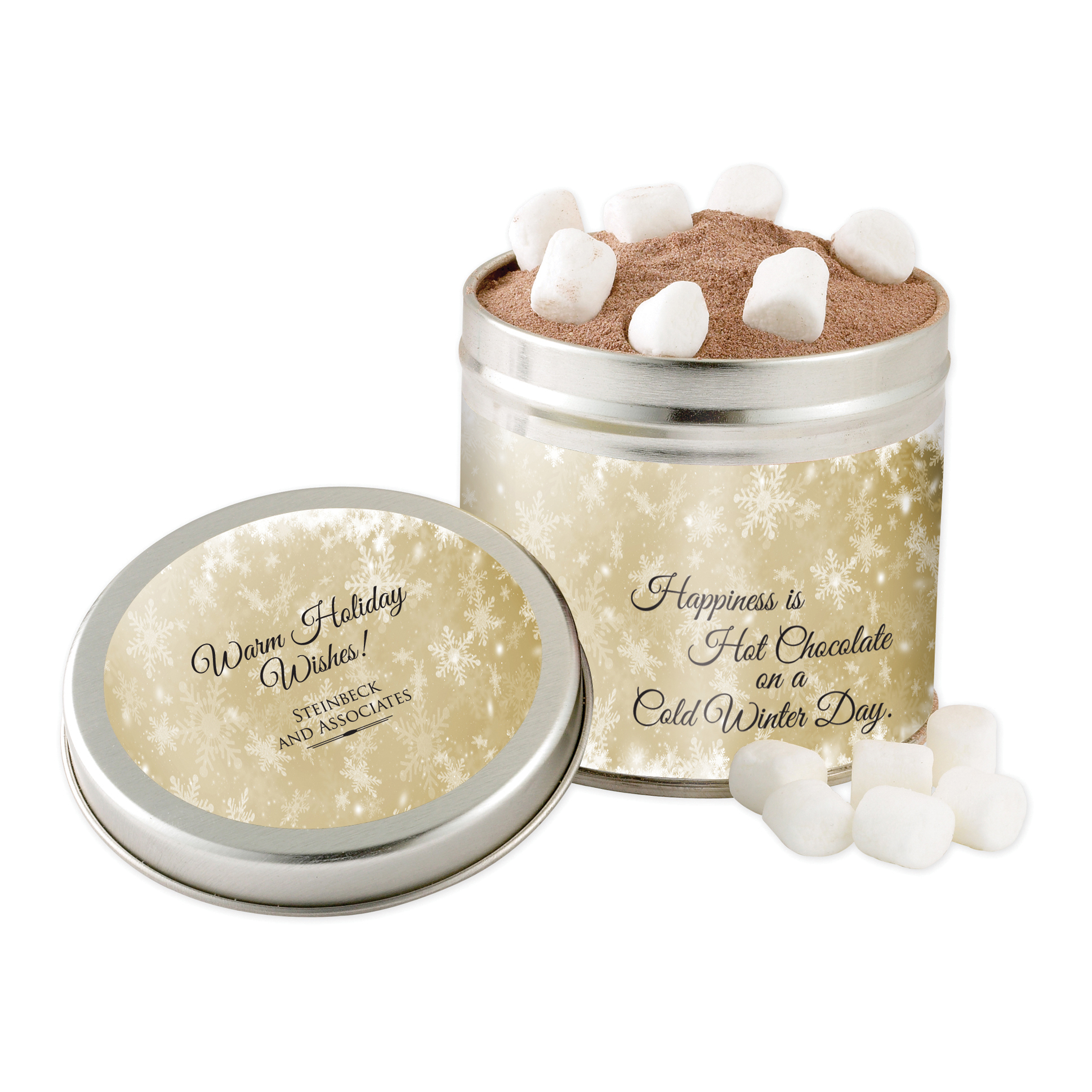 Hot Chocolate & Marshmallows in a Large Tin
