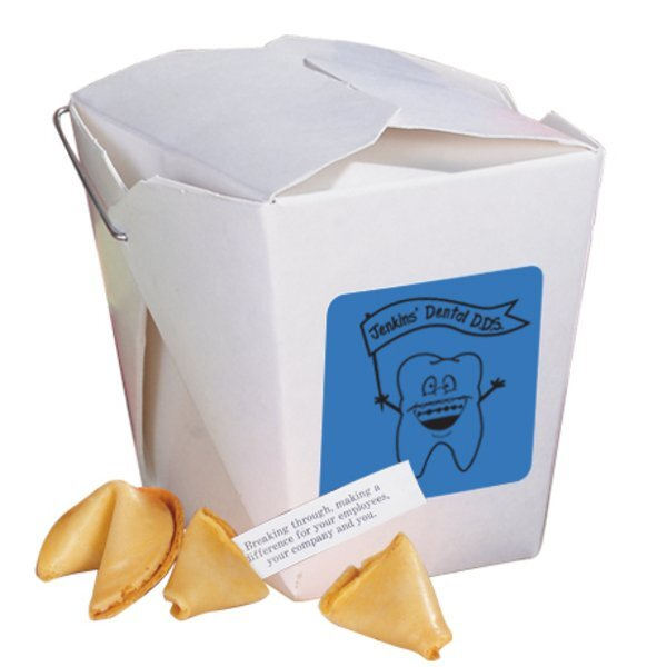 Take Out Fortune Cookie Container, 2 Cookies