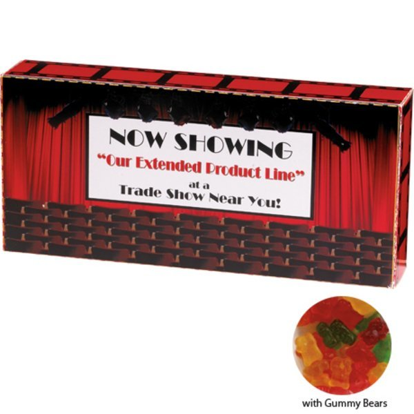 Gummy Bears Custom Movie Theater Candy Box, 3.7oz.