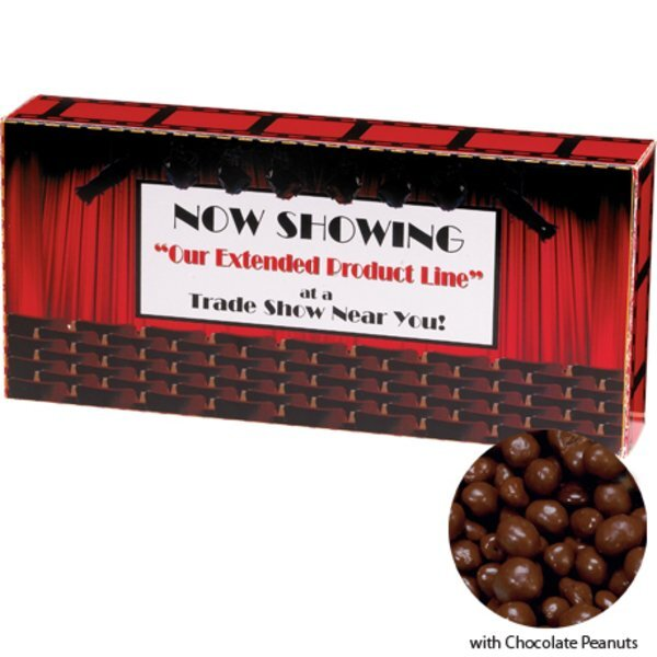 Chocolate Peanuts Custom Movie Theater Candy Box, 3.7oz.