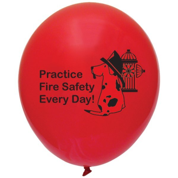Practice Fire Safety Every Day Balloon, Stock
