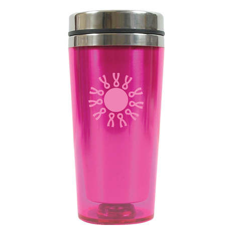 Colored Acrylic Pink Tumbler, 16oz.