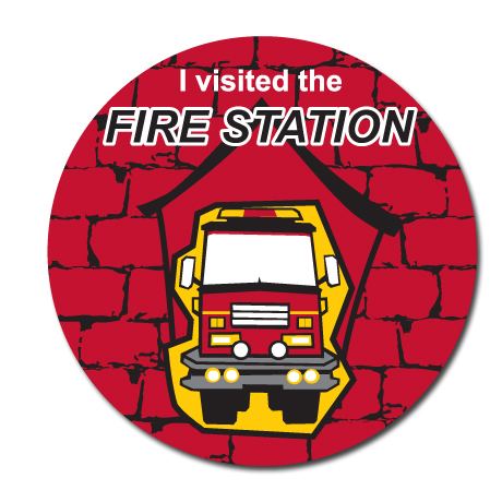 I Visited The Fire Station Sticker Roll, Stock