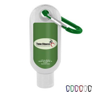 Coconut Breeze SPF-30 Sunscreen with Carabiner, 1.9oz.