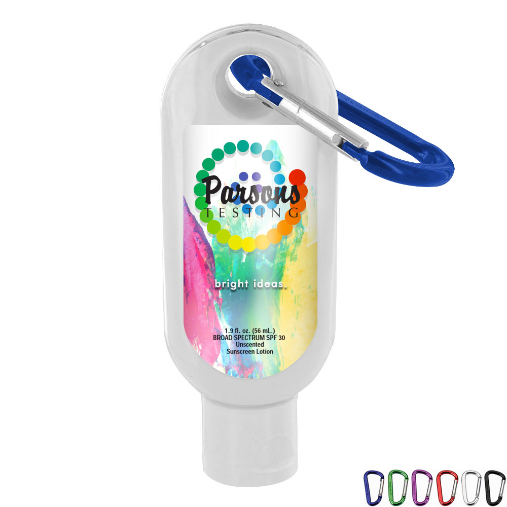 Unscented SPF-30 Sunscreen with Carabiner, 1.9oz.