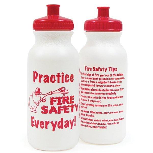 Fire Safety Bike Bottle, 20oz., Stock
