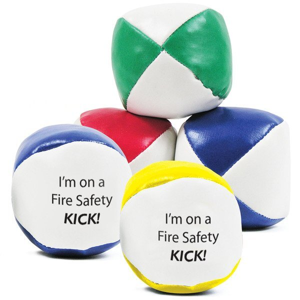 Fire Safety Kick Ball Hackey Sack, Stock