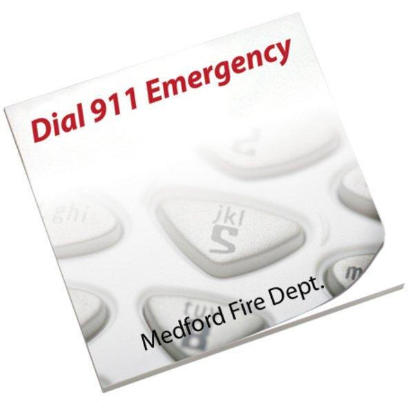 Dial 911 Emergency, 25 Sheet Sticky Pad