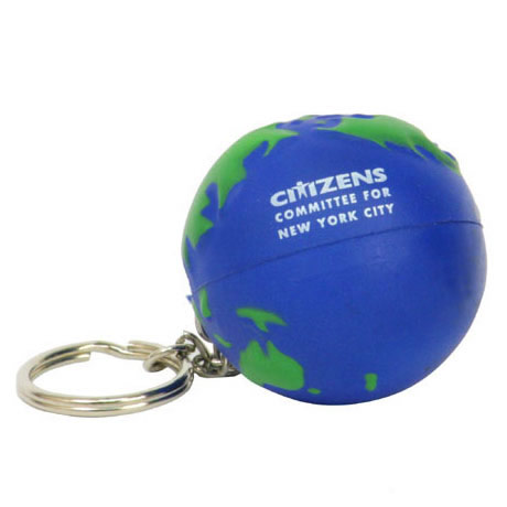 Earth Ball Stress Reliever Key Chain